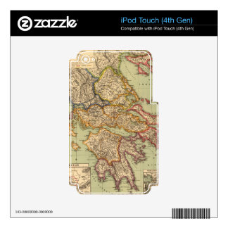 Vintage Map of Greece (1903) iPod Touch 4G Decal