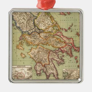 Vintage Map of Greece (1903) Metal Ornament