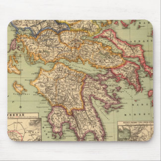 Vintage Map of Greece (1903) Mouse Pad