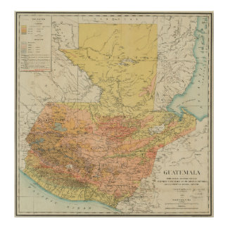 Vintage Map of Guatemala (1902) Poster