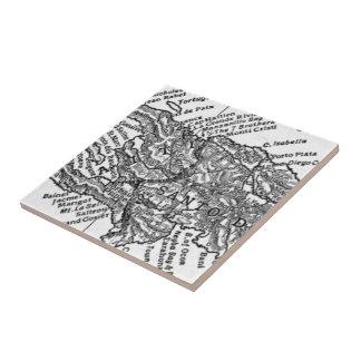 Vintage Map of Haiti (1911) Ceramic Tile