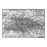 Vintage Map of Haiti (1911) Posters