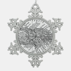 Vintage Map Of Haiti (1911) Snowflake Pewter Christmas Ornament at Zazzle