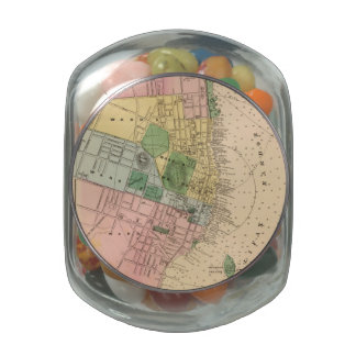 Vintage Map of Halifax Nova Scotia (1878) Jelly Belly Candy Jars