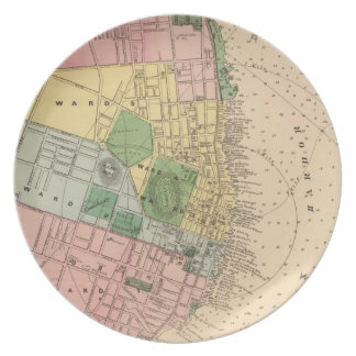 Vintage Map of Halifax Nova Scotia (1878) Party Plate