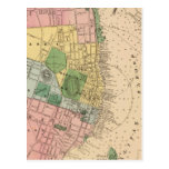 Vintage Map of Halifax Nova Scotia (1878) Post Card