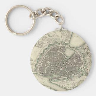 Vintage Map of Hamburg Germany (1841) Keychain