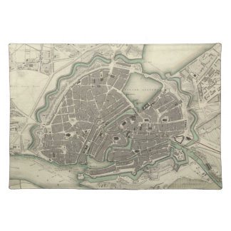 Vintage Map of Hamburg Germany 1841 Placemats