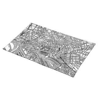 Vintage Map of Hamburg Germany (1911) Place Mat