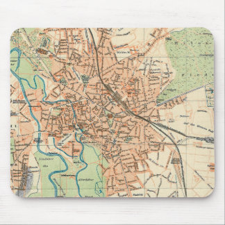 Vintage Map of Hanover Germany 1895 Mousepads