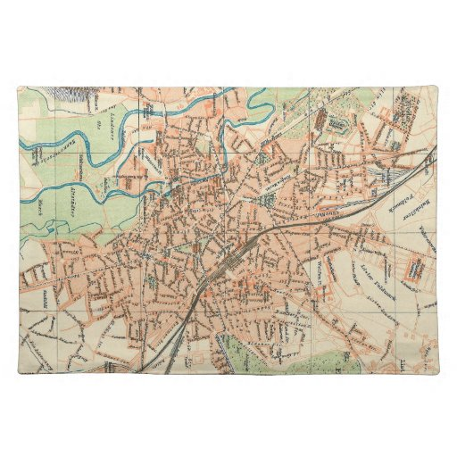 Vintage Map of Hanover Germany (1895) Place Mats