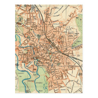 Vintage Map of Hanover Germany (1895) Post Cards