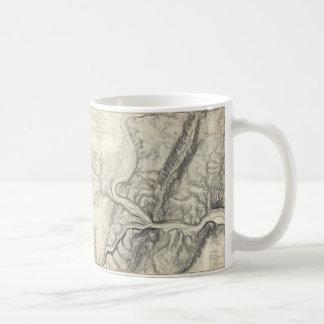 Vintage Map of Harpers Ferry (1863) Coffee Mug
