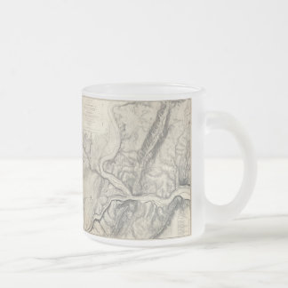 Vintage Map of Harpers Ferry (1863) Frosted Glass Coffee Mug