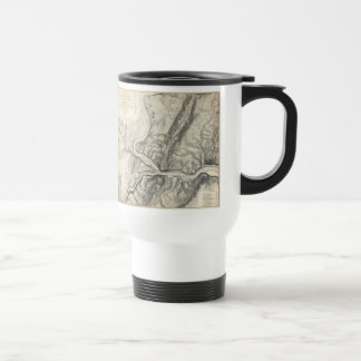 Vintage Map of Harpers Ferry (1863) 15 Oz Stainless Steel Travel Mug