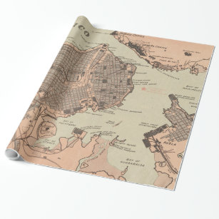 Havana Cuba Wrapping Paper Zazzle - Vintage map of cuba