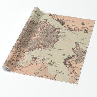 Vintage Map of Havana Cuba (1898) 2 Wrapping Paper