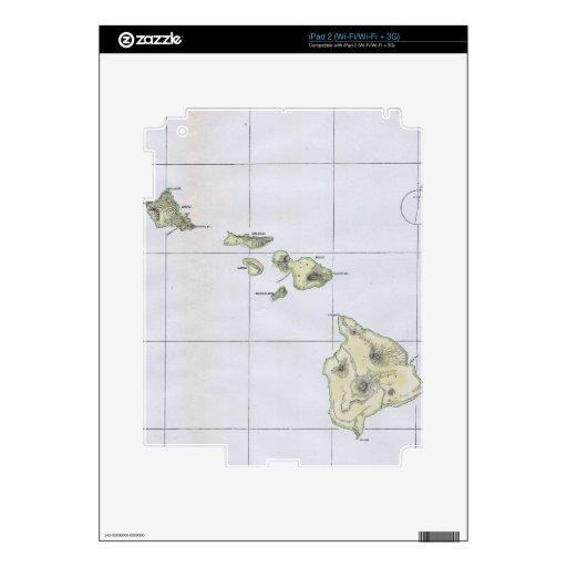 Vintage Map of Hawaii (1883) iPad 2 Decals