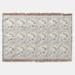 Vintage Map of Hawaii and New Zealand (1855) Throw Blanket