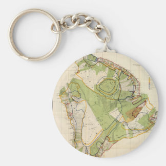 Vintage Map of Hawaii Island (1906) Basic Round Button Keychain