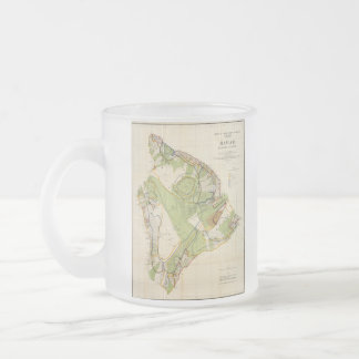 Vintage Map of Hawaii Island (1906) Frosted Glass Coffee Mug
