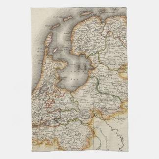 Vintage Map of Holland (1817) Towel