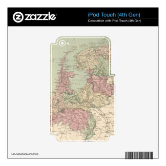 Vintage Map of Holland (1873) iPod Touch 4G Decal