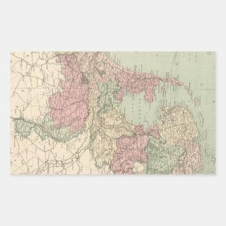 Vintage Map of Holland (1873) Rectangular Sticker