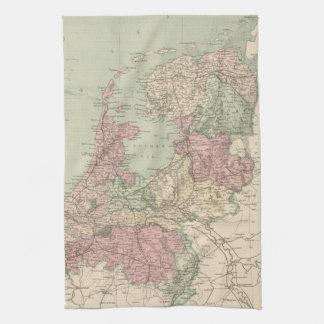 Vintage Map of Holland (1873) Towel