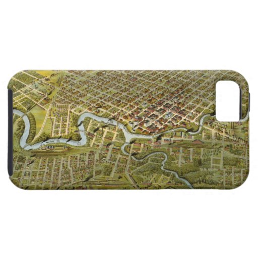 Vintage Map of Houston Texas (1891) iPhone 5 Cases