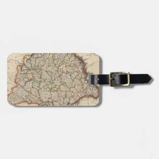 Vintage Map of Hungary (1817) Luggage Tag