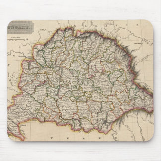 Vintage Map of Hungary (1817) Mouse Pads