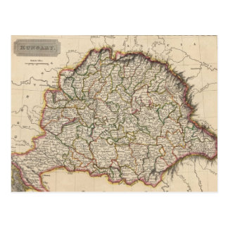 Vintage Map of Hungary (1817) Postcard