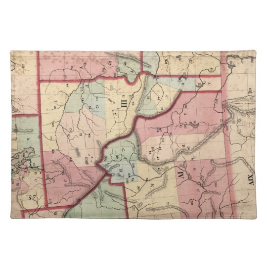 Vintage Map of Idaho (1866) Cloth Placemat