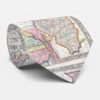 Vintage Map of Illinois (1861) Tie