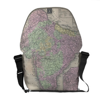Vintage Map of India (1853) Courier Bag