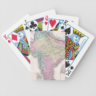 Vintage Map of India (1855) Bicycle Playing Cards