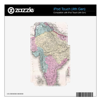 Vintage Map of India (1855) Decal For iPod Touch 4G
