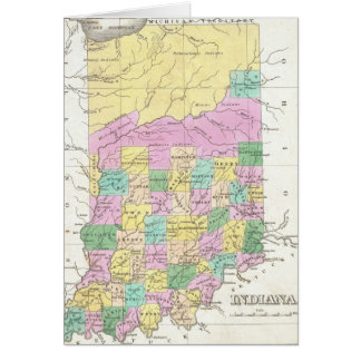 Vintage Map of Indiana (1827) Card
