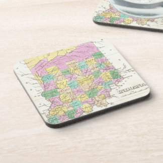 Vintage Map of Indiana (1827) Coaster