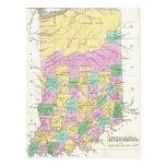Vintage Map of Indiana (1827) Postcard