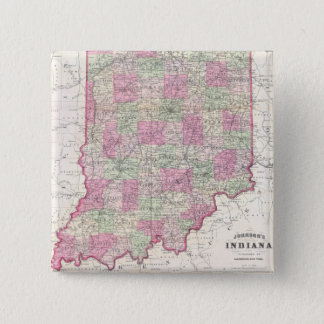 Vintage Map of Indiana (1864) Button