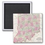 Vintage Map of Indiana (1864) Fridge Magnets