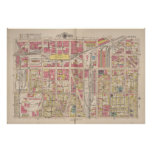 Vintage Map of Indianapolis Indiana (1916) Poster
