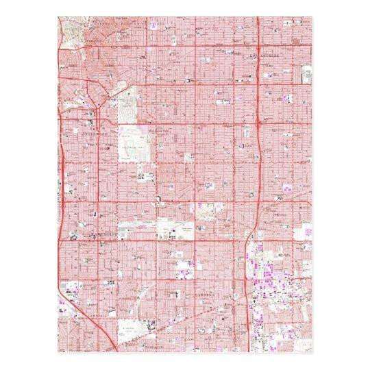 Vintage Map Of Inglewood California Postcard Zazzlecom - Inglewood map