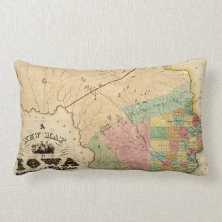 Vintage Map of Iowa (1845) Lumbar Pillow