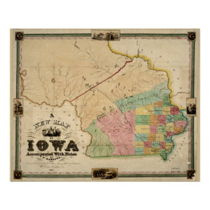 Vintage Iowa Map Gifts On Zazzle - Vintage iowa map