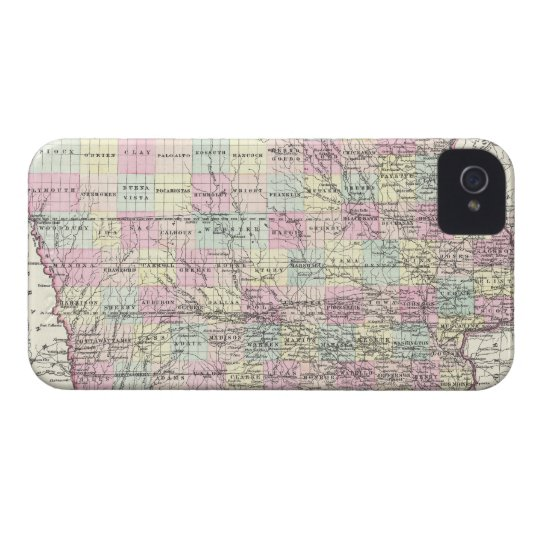 Vintage Map of Iowa (1855) Case-Mate iPhone 4 Case