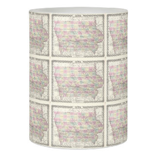 Vintage Map of Iowa (1855) Flameless Candle
