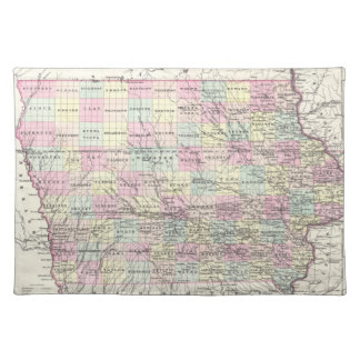 Vintage Map of Iowa (1855) Placemat